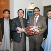 Chairman PCB CH. Zaka Ashraf meeting with FATA region delegation
