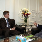 H.E Lars-Gunnar Wigemark Head of European Union Delegation to Pakistan called on Chairman PCB