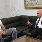 Chairman PCB Shaharyar M. Khan meeting with Pakistan Captain Misbah-ul-Haq