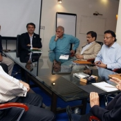 PCB Chairman Shaharyar M. Khan meeting with PCB officials
