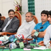Chairman PCB Mr Zaka Ashraf press conference