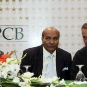 Chairman PCB Zaka Ashraf, Intikhab Alam & Dave Watmore  press conference