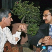 Chairman PCB Zaka Ashraf in meeting Majid Khan at his residence