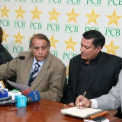 chief selector muhammad illyas announcing pak team pressbriefing photos