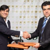 COO PCB Mr. Subhan Ahmad & Afghanistan CEO signing an agreement