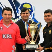 PCB COO Subhan Ahmed with KRL and NBP joint winners captains of President One Day Cup 2013-14