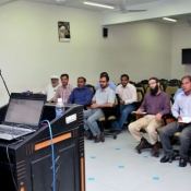 Director Game Development PCB Intikhab Alam addressing Regional physiotherapists