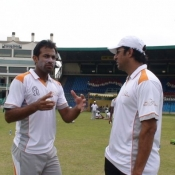 PCB-UFONE Fast bowlers camp under the supervision of Wasim Akram and Muhammad Akram Pakistan National Fast Bowlers Coach at National Stadium, Karachi.