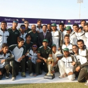 Group photograp of PIA Cricket team-winner of Quaid-e-Azam Trophy (Division I) 2011-12