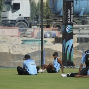Training session before second test match