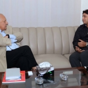 Chairman PCB Shaharyar M. Khan meeting with Faisal Iqbal