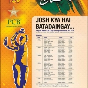 Tickets Advertisement for Departments T20 Cup