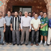 Group photo of Regional physiotherapists and Haroon Rashid at NCA