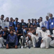 SNGPL team celebrate after winning the President Trophy 2013-14