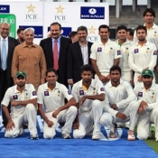 Group Photo of Chairman PCB XI team with Chief Minister Punjab Mian Muhammad Shahbaz Sharif.