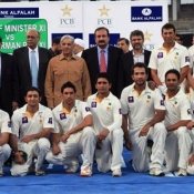 Group Photo of Chief Minister XI team with Chief Minister Punjab Mian Muhammad Shahbaz Sharif.