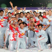 Group photo of winner team Faysal Bank Super Eight T-20 Cup