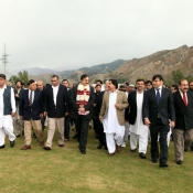 Chairman PCB Chaudhry Zaka Ashraf and Members of the BOG visiting Abbottabad Cricket Stadium