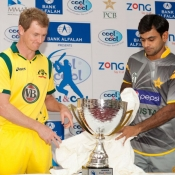 Unveiling of T20 Trophy between Pakistan and Australia 2012