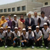 Knights Group Photo in Women Cricket Triangular T20 Tournament 2012 in Karachi