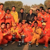 Lahore Ravi team group photo after winning Inter Region-departmental Under-19 cup