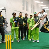 Pakistan's cricketers attends a Pakistan disabled cricket team training session
