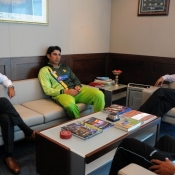 Pakistan captain Misbah-ul-Haq with ICC Chief Executive Haroon Lorgat