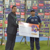 UBL Asif Ali recieves Man of the Match award in Pepsi Presents Advance Telecom Ramadan T20 Cup match against HBL