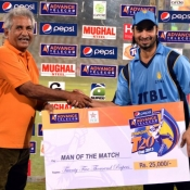 ZTBL Imran Nazir receives Man of the Match award in Pepsi Presents Advance Telecom Ramadan T20 Cup match against NBP