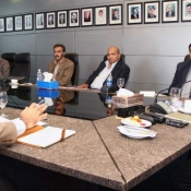 PCB Chairman Ch. Zaka Ashraf was given a briefing by the PCB Management