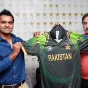 For Information: Pakistan T 20 Team Shirt for ICC T 20 WC 2014 unveiled today at GSL
