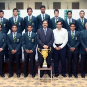 Pakistan Under-19s Asia Cup winner team group photo with Chairman PCB