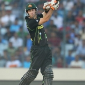 Glenn Maxwell plays a shot