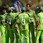 Pakistan Under-19s v New Zealand Under-19s match in ICC U-19 World Cup 2012