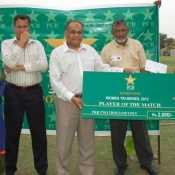 Player of the match in 1st match on 11 July 2012 of Women Cricket Triangular T20 Tournament 2012 in Karachi
