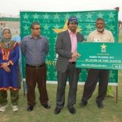 Player of the match in 2nd match on 11 July 2012 of Women Cricket Triangular T20 Tournament 2012 in Karachi