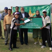 Player of the match in 2nd match on 9 July 2012 of Women Cricket Triangular T20 Tournament 2012 in Karachi