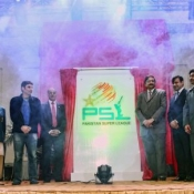 Chairman PCB Ch. Zaka Ashraf unveiled the logo of Pakistan Super League