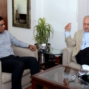 Chairman PCB Shaharyar M. Khan meeting with Rashid Latif