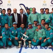 Rawalpindi team group photo after winning the QEA Trophy 2013/14