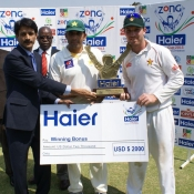 Brendan Taylor and Misbah-ul-Haq share series bonus after Test series was drawn 1-1