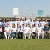 Group Picture of South Africa at Sharjah stadium