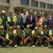 Strikers Group Photo in Women Cricket Triangular T20 Tournament 2012 in Karachi