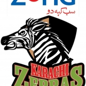 ZONG Karachi Zebras Logo for Broadcaster, Print, Outdoor, Electronic & all mediums