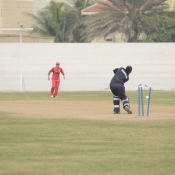 Sana Urooj is bowled by Kanwal Francis