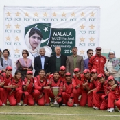 Lahore Under-21s Women team group photo after winning the Malala 1st Under-21 National Women Championship