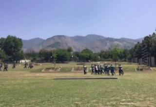 Pakistan Cricket Team summer fitness boot camp at ASPT Kakul