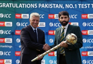 ICC Number 1 Test Cricket Team Mace Presentation Ceremony