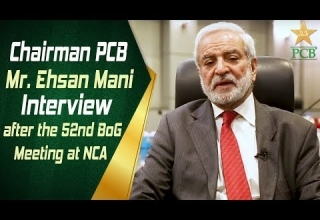 Chairman PCB, Mr. Ehsan Mani Interview after the 52nd BoG Meeting...
